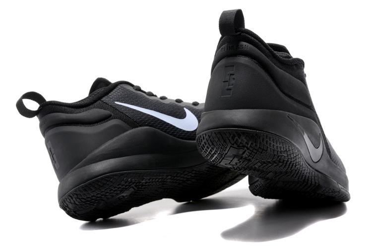 5bd5720c21a Nike Zoom Witness EP Lebron James Triple Black Men s Basketball Shoes