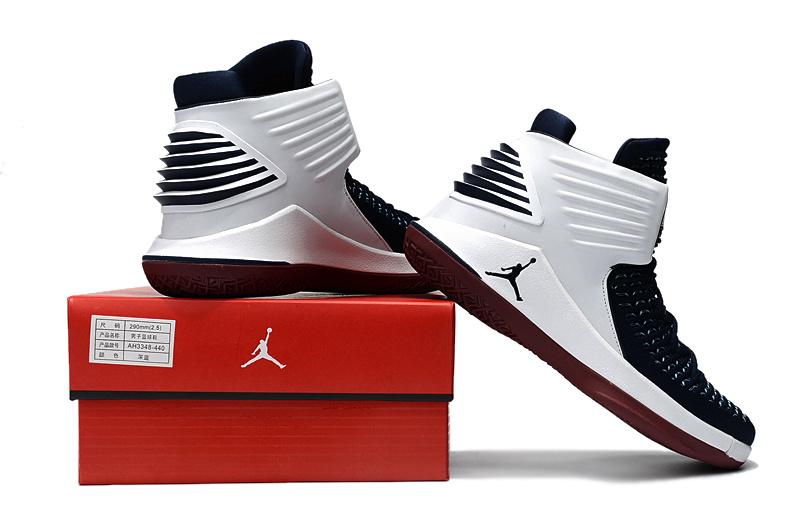 on sale 46d4c 07573 Nike Air Jordan 32 Low Free Throw Line Dunk Contest Black University Red  White Men s Basketball