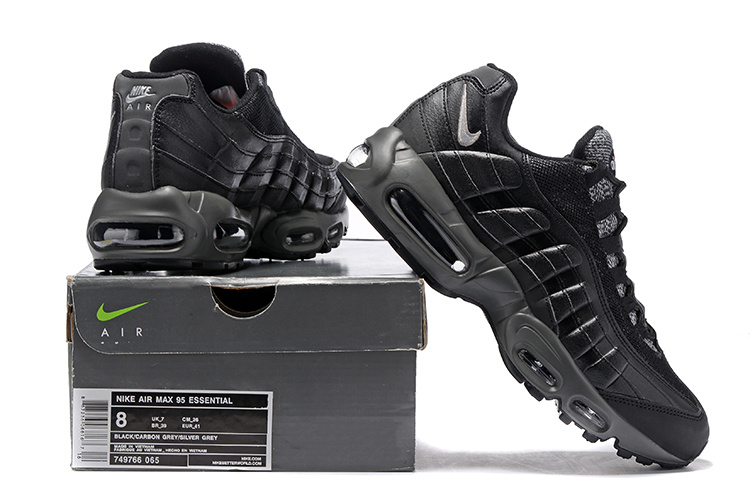 brand new 8ee95 124c6 Nike Air Max 95 Essential Black Cool Grey Anthracite Red 749766 065 Men s  ...