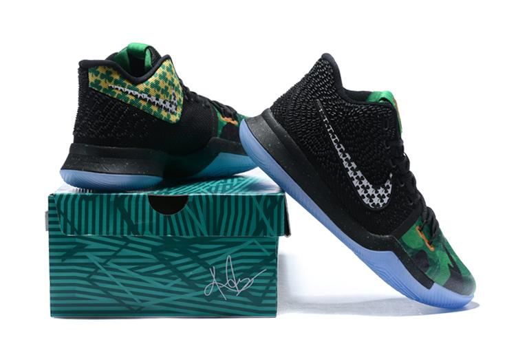 c2911cc4553 Nike Kyrie 3 III EP Irving All Saints Day Black Green Men s ...