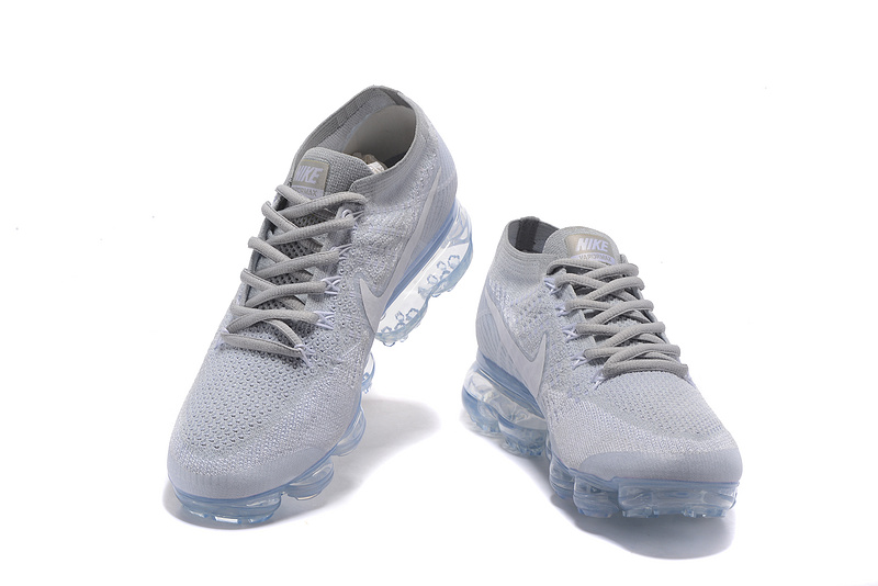 watch 3f33e 852ee Nike Air VaporMax Flyknit 2018 Pure Platinum White Wolf Grey Men s Running  Shoes