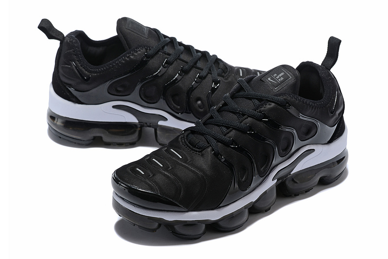 newest 61838 608e2 Nike Air Max Plus TN 2018 Black White Women's Running Shoes NIKE-ST001959