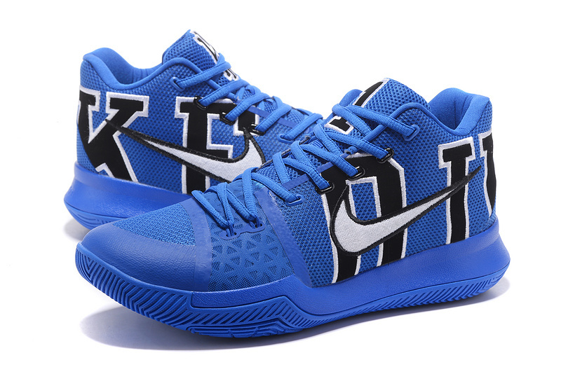 innovative design ce2d4 e988d Nike Kyrie 3 PE NCAA Duke Blue Devils Black Game Royal Men's Basketball  Shoes 922027-001