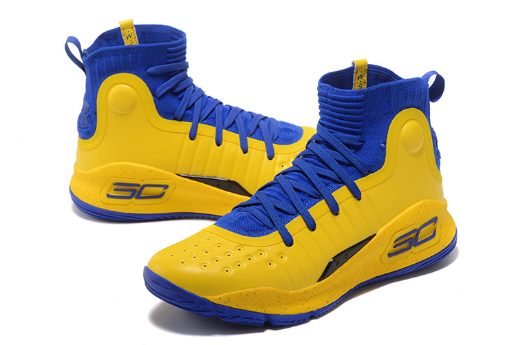 d418048b6b64 Under Armour Curry 4 Yellow Royal Blue Men s Basketball Shoes NIKE ...