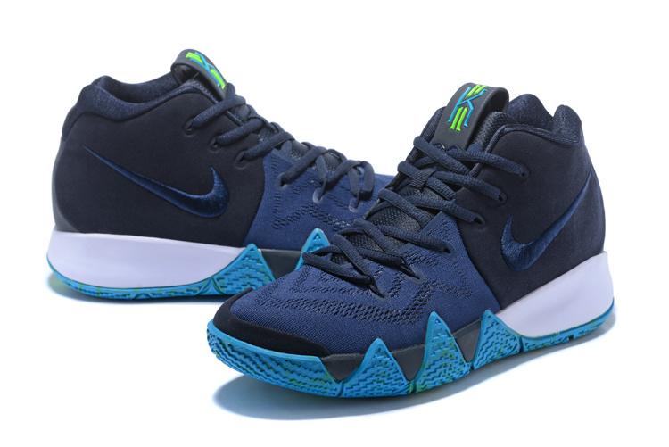 huge discount f3ce9 5d79e Nike Kyrie 4 Dark Obsidian Black Men s Basketball Shoes