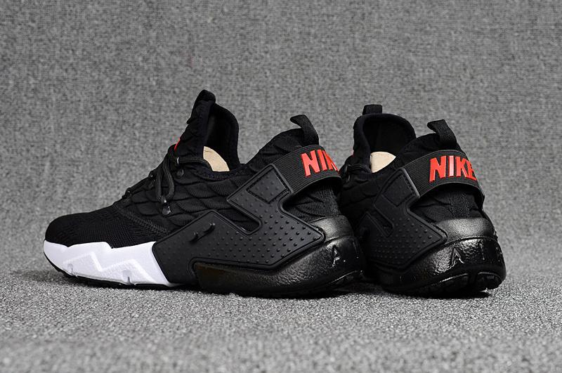 the best attitude c822a e1c01 Nike Air Huarache Drift Prm Flyknit Black White Red Men's Running Shoes