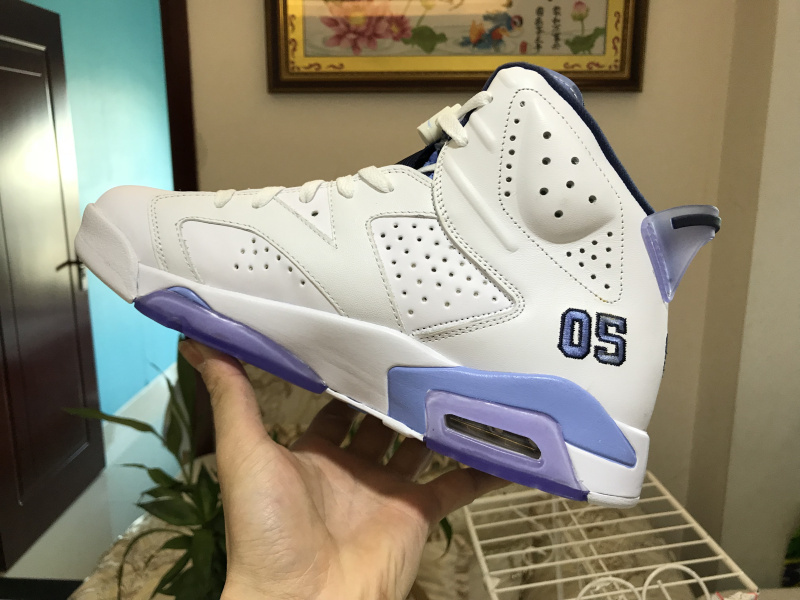 100% authentic 74952 04ae6 Nike Air Jordan 6 Retro UNC Mens Athletic Basketball Shoes 384664-006A