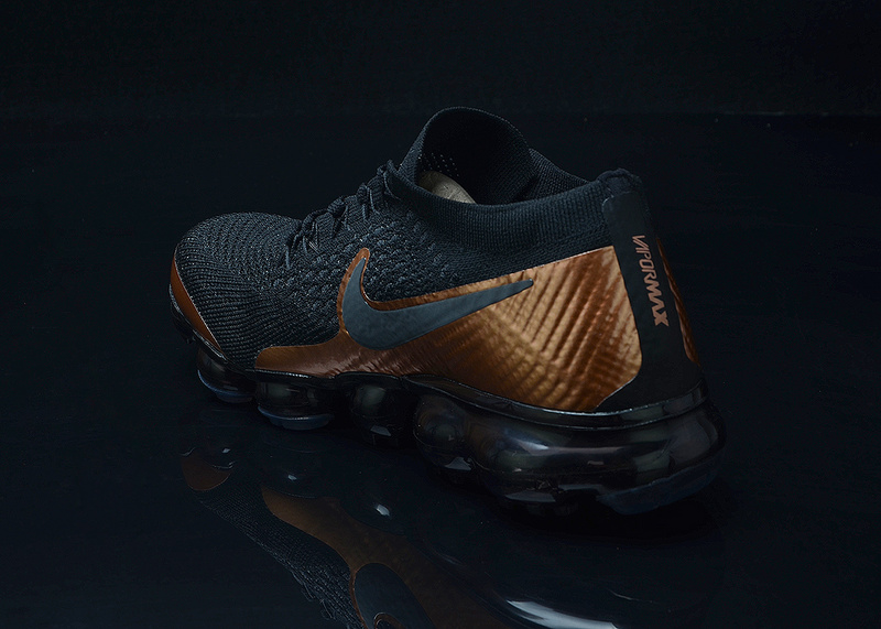 001c6f8310 Nike Air VaporMax Flyknit AIR 2018 Black Gold Men's Running Shoes ...