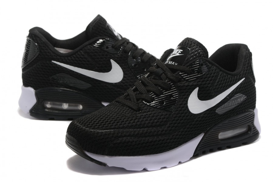 size 40 ea960 1a636 Nike Air Max 90 Ultra Breathe Black White Men s Women s Running Shoes  Sneakers
