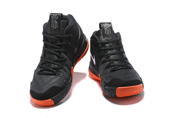 more photos 1d187 328bd Nike Kyrie 4 EP Black Silver Orange Men's Basketball Shoes 943807-010