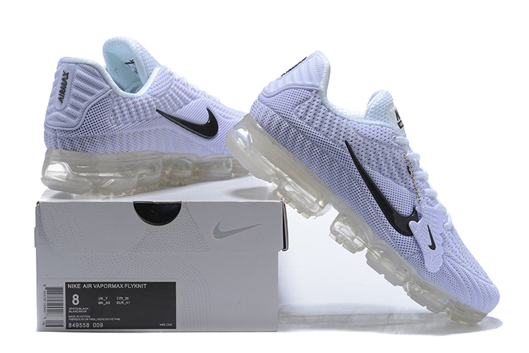 536aac6f36ee Nike Air Vapormax Flyknit Kpu White Black Men s Running Shoes 849558 ...