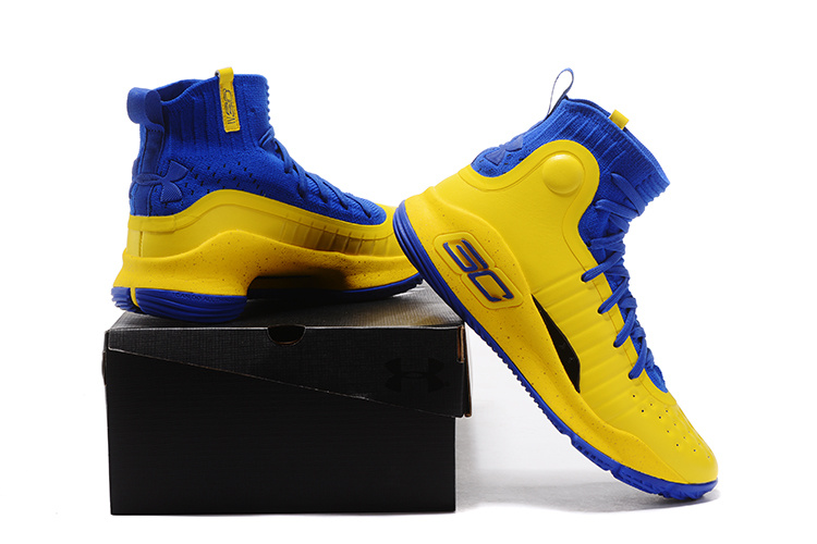 ca0b00fbdb90 ... real under armour curry 4 yellow royal blue mens basketball shoes dc5fe  f2f5b