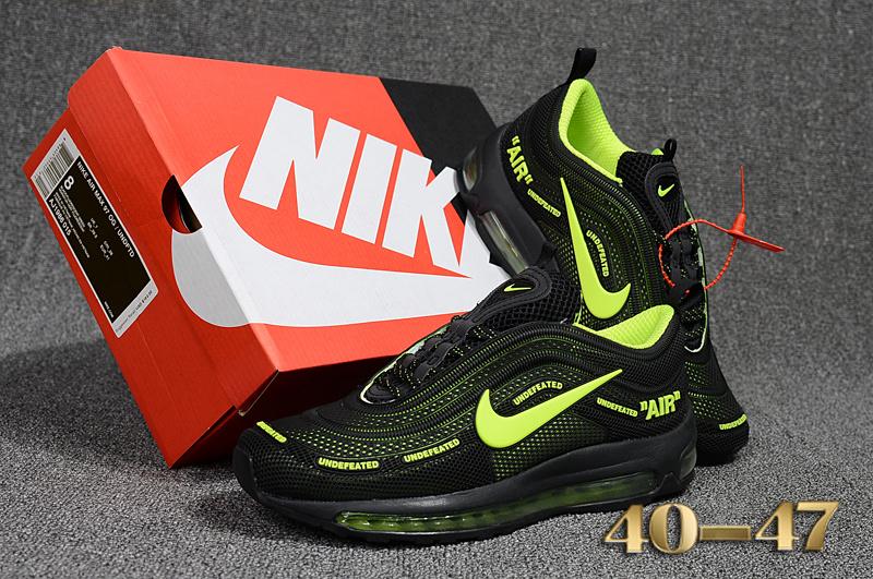 1ed3b7bfc1a Off White X Nike Air Max 97 Kpu Black Green Men s Running Shoes NIKE ...