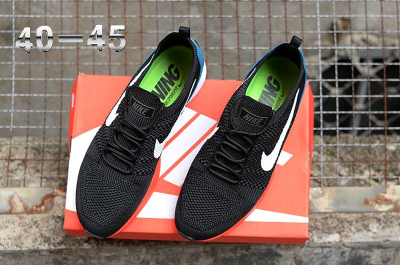 babb430e0b0d3 Nike Air Zoom Mariah Flyknit Racer Black White Blue Women s Men s Running  Shoes