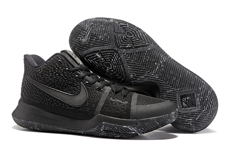 sale retailer d2601 63aed Nike Kyrie 3 III EP Irving Marble Triple Black 3M Men's Basketball Shoes  852396-005