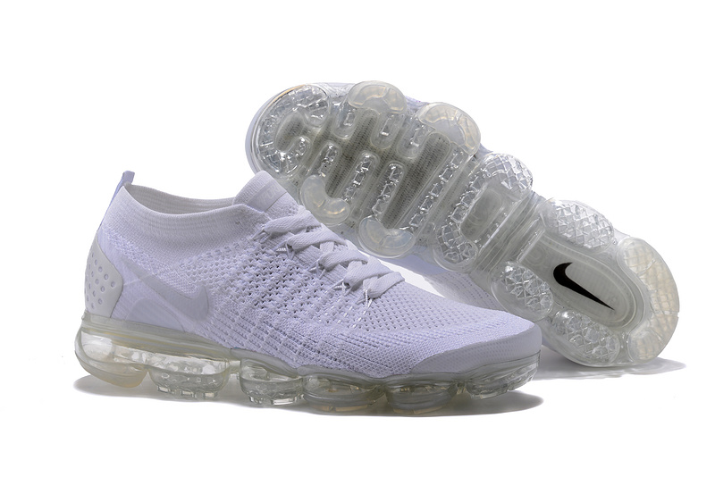 wholesale dealer a4e9f 85f19 Nike Air VaporMax Flyknit 2 TPU Triple White Women's Men's Running Shoes  NIKE-ST000581