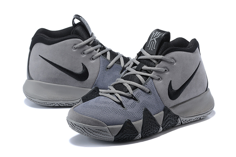 58ea7c18c8a6 Nike Kyrie Irving 4 Wolf Grey Black Men s Basketball Shoes NIKE ...