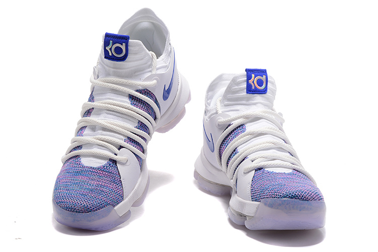 official photos 70f16 0cb31 Nike KD 10 X Kevin Durant White Blue Men's Basketball Shoes NIKE-ST001459