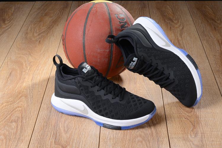 a3930cc99355 Nike Lebron Witness II EP 2 Flyknit Black White Silver Men s Basketball  Shoes