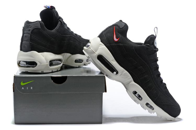 on sale b6e07 18208 Nike Air Max 95 TT Black Gym Red Sail AJ1844 002 Women's Men's Running  Shoes AJ1844-002