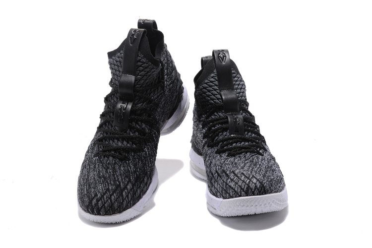 new arrival 947cb 4efda Nike Lebron 15 XV Oreo Ashes Men s Basketball Shoes