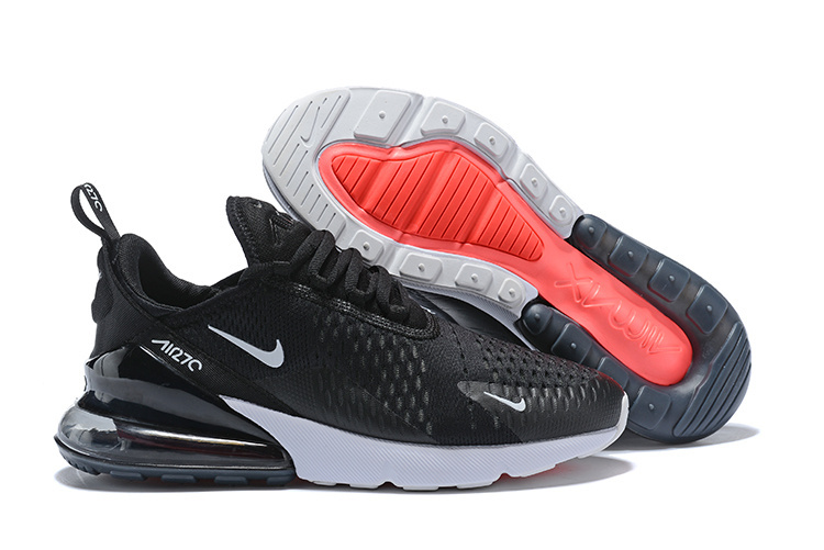 competitive price 35e26 9bcbb Nike Air Max 270 Flyknit Black White Men's Running Shoes AH8050-002