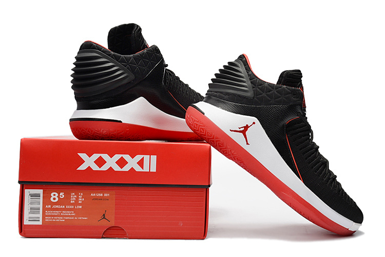 3f3335039244a9 Air Jordan 32 Low Banned Bred Black University Red White Men s ...