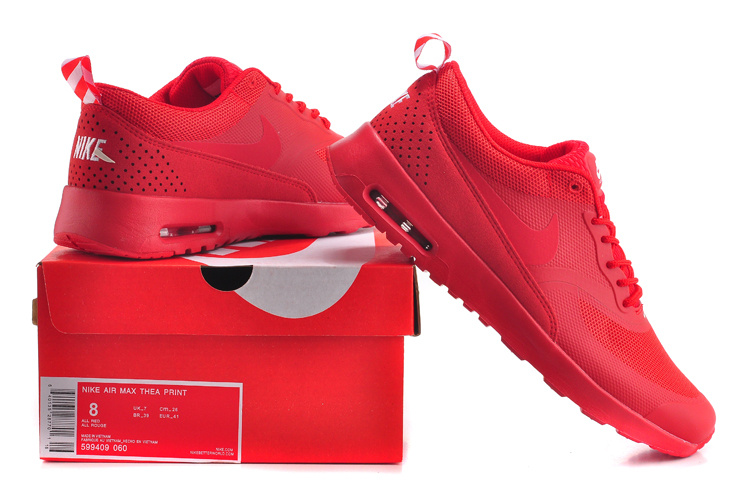 pretty nice c085f 37f6e Nike Air Max Thea Print Trainers Triple Red 599409 461 Women's Men's  Running Shoes Sneakers 599409-461