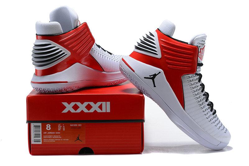 221e4e9d662e Nike Air Jordan XXXII 32 White Red Black Men s Basketball Shoes NIKE ...