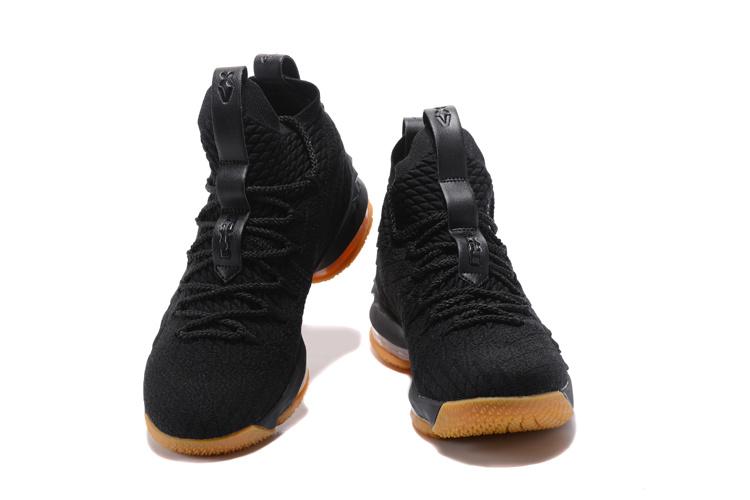 finest selection bab1a 88c46 Nike Lebron 15 XV Black Gum Men's Basketball Shoes 897648-300