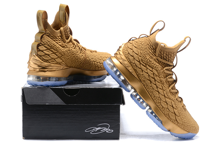 12e5f337f39 ... Lebron James Basketball Shoes›. Nike Lebron XV 15 EP Bronze Gold ...