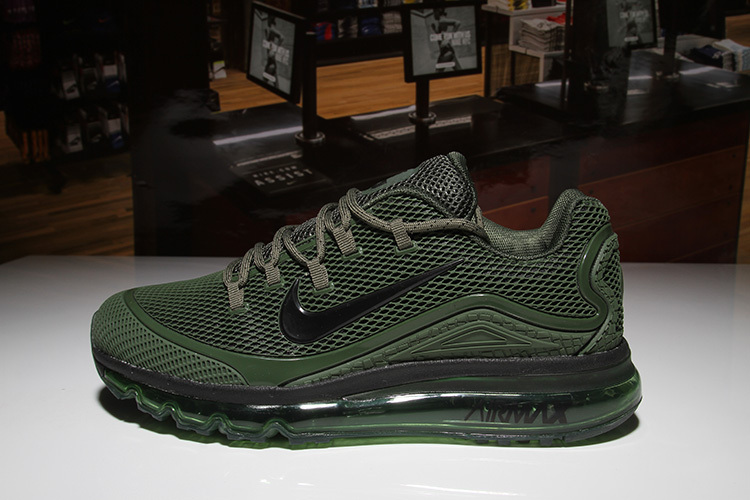 new product 08297 782a0 Nike Air Max 2018 Elite KPU Black Olive Green Men's Running Shoes  NIKE-ST001968