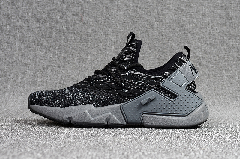 sports shoes beaf0 19bd8 Nike Air Huarache Drift Prm Flyknit Black Grey Men s Running Shoes