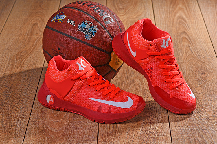 2a015d6ac6f0 Nike KD 5 Trey IV EP Bright Crimson Red White Men s Basketball Shoes ...