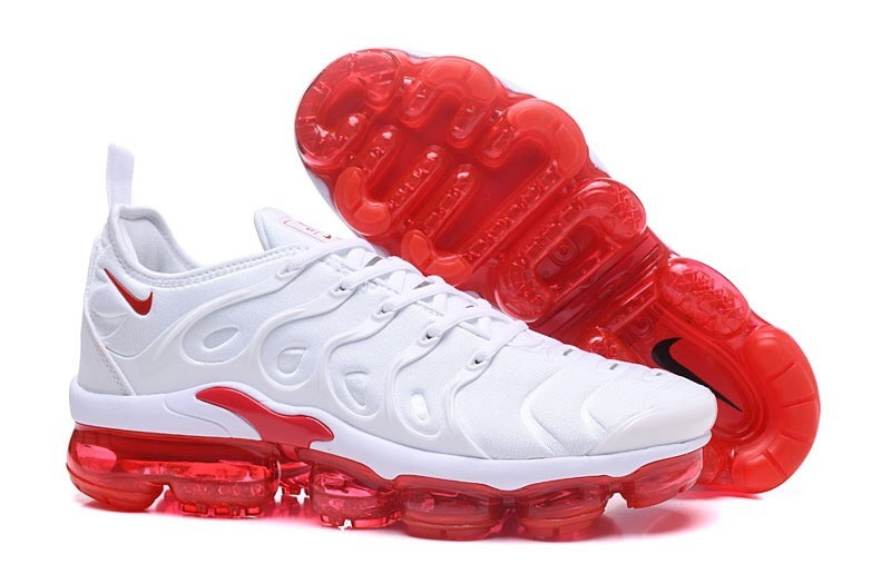 the latest 7c32e 9f8b5 Nike Air VaporMax Plus TN Red White Men's Running Shoes NIKE-ST000969