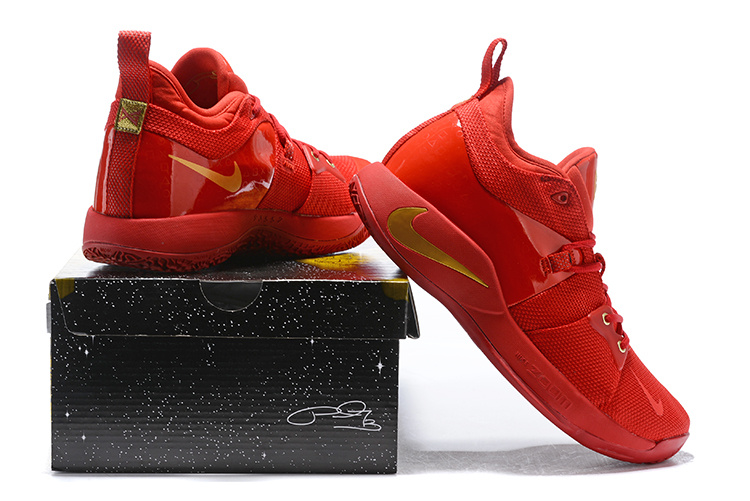 52586a26fba Nike PG 2 Paul George October Red Gold Men s Basketball Shoes NIKE ...