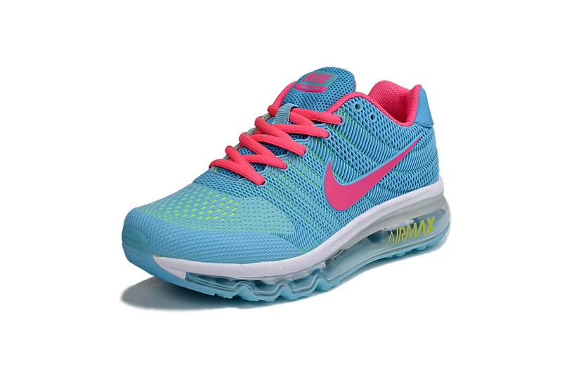 brand new 88fe3 13db3 Nike Air Max 2017 KPU Blue Pink White Women s Running Shoes