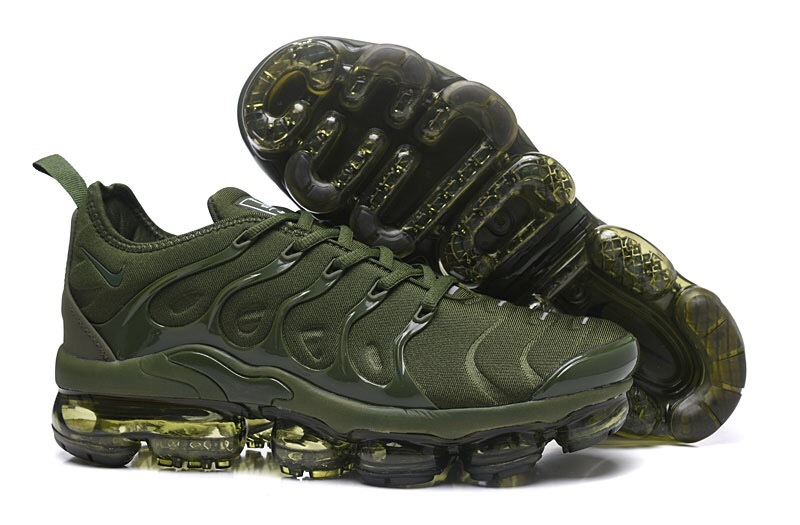 info for 26951 df429 Nike Air VaporMax Plus TN Olive Green Men's Running Shoes NIKE-ST000970
