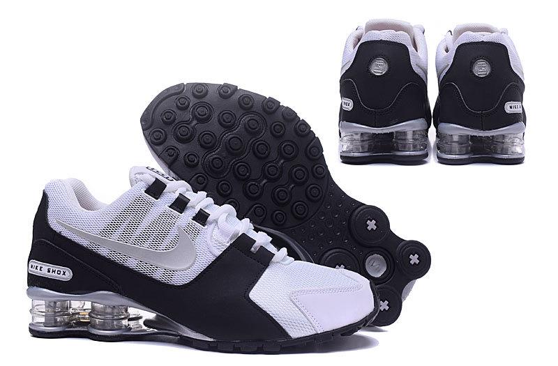 half off bcbec 39806 ... til canada c7d96 40984  purchase nike shox avenue nz white black silver  mens running shoes nike eeefa c391f