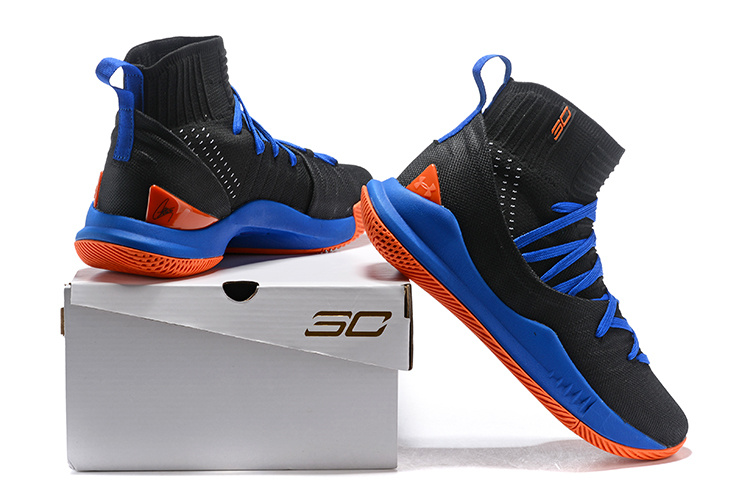 b680ebe6fea Under Armour Curry 5 Navy Blue Black Orange Men s Basketball Shoes ...