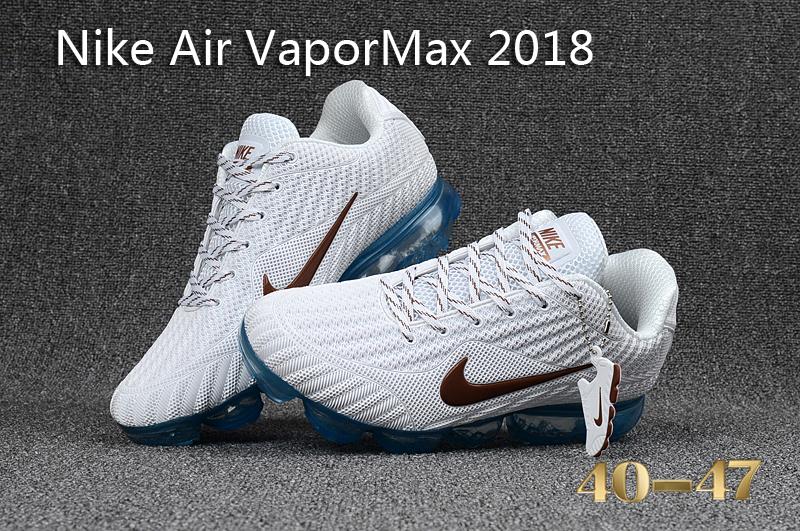 new concept 646d9 512ed Nike Air Vapor Max 2018 KPU White Blue Men s Running Shoes