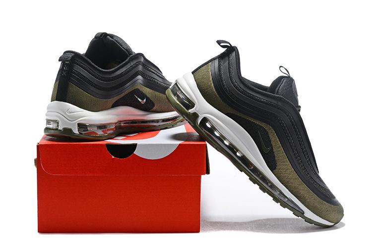 Nike Air Max 97 Premium Animal BlackBlackSummit WhiteCool Grey 917646 005 Women's Men's Running Shoes Sneakers