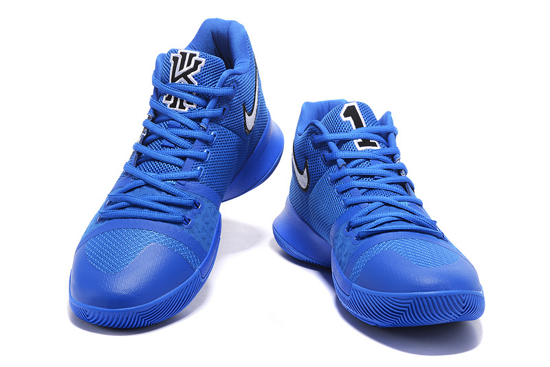 innovative design 650a5 fbe69 Nike Kyrie 3 PE NCAA Duke Blue Devils Black Game Royal Men's Basketball  Shoes 922027-001