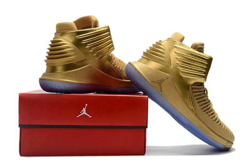 e69e16084f2 Nike Air Jordan XXXII AJ32 Gold Men s Basketball Shoes NIKE-ST001880 ...