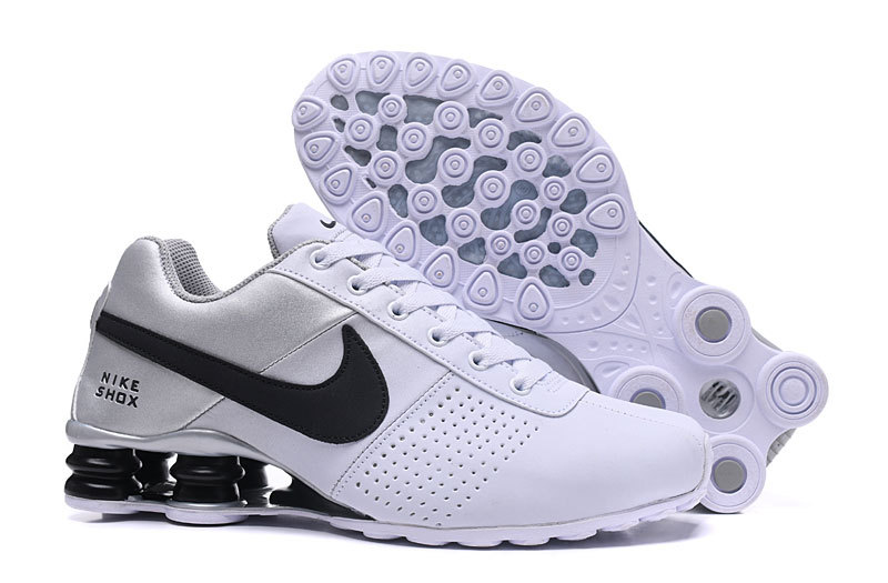Nike Shox Deliver White Silver Black NZ Men s Running Shoes NIKE ... eca49ce8e