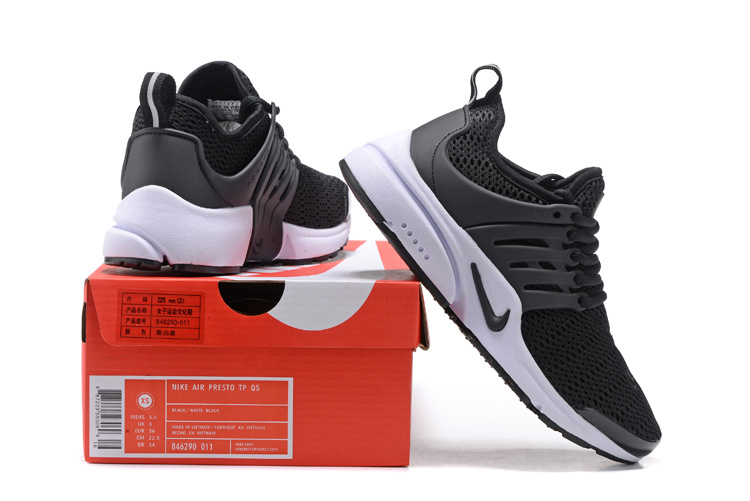 reputable site 58c23 291f8 Nike Wmns Air Presto Black White Men's Women's Running Shoes 846290-011A