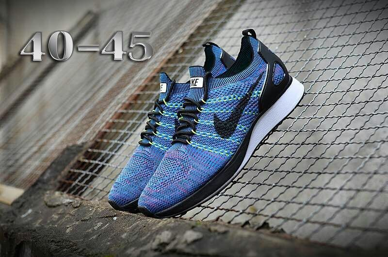 fa961f54ecb4 Nike Air Zoom Mariah Flyknit Racer Blue Black White Men s Running ...