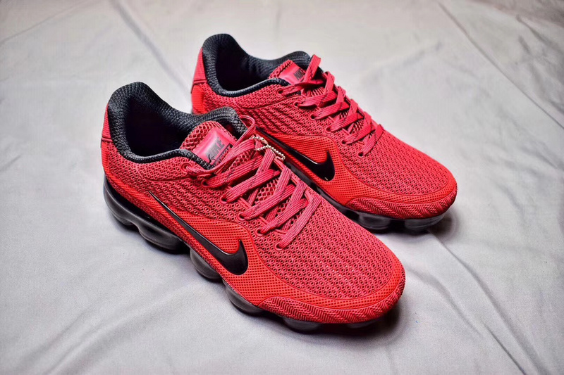 c347b103f7 Nike Air Max 2018 Kpu VaporMax University Red Black Men's Running Shoes