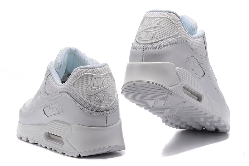 super popular 10da2 dc896 Nike Air Max 90 Triple White Men's Women's Running Shoes Sneakers 537384-002