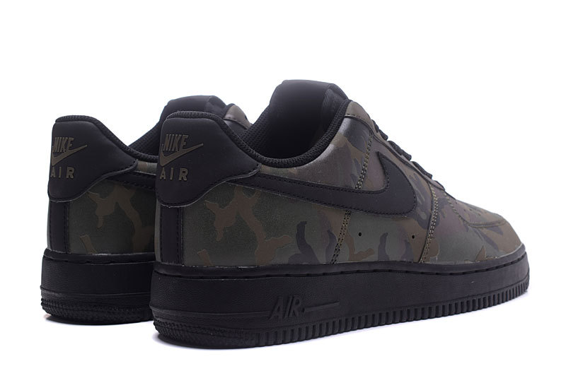 free shipping bca2a 2c533 Nike Air Force 1 Low Olive Reflective Camo Black Men s Running Shoes  Sneakers